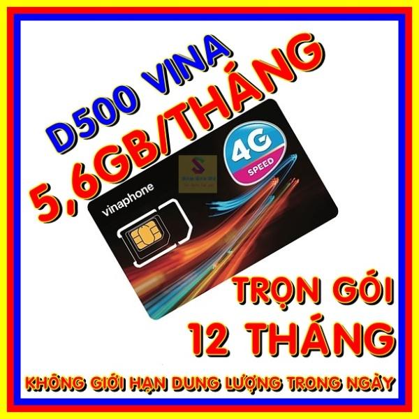 Sim 4G Vinaphone trọn gói 1 năm không nạp tiền - Sim 4G Vina D500 - Shop Sim Giá Rẻ