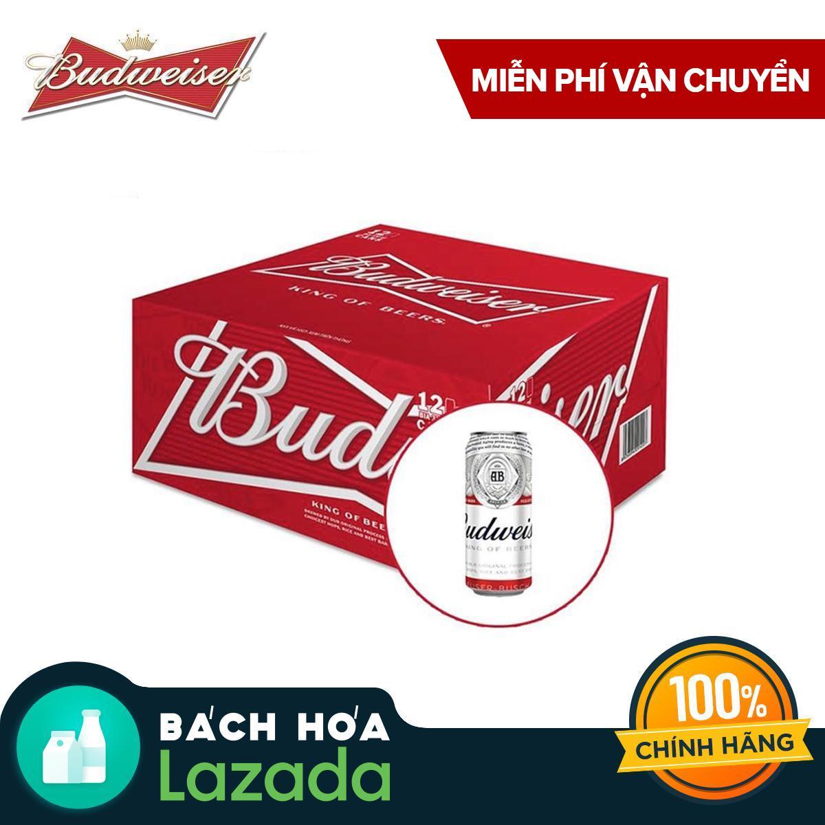 Thùng 12 Lon Bia Budweiser 500ml Giá Quá Ưu Đãi