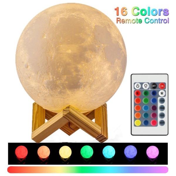 Bảng giá [BH 1 ĐỔI 1 ] Đèn Ngủ Mặt Trăng size 12cm 15 cm 18cm  20cm có điều khiển từ xa tặng kèm đế gỗ BH 3 THÁNG Toàn Quốc.