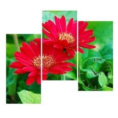 Cửa Hàng Bán Đồng Hồ Tranh Hoa Cuc Đỏ Vicdecor Dht0203