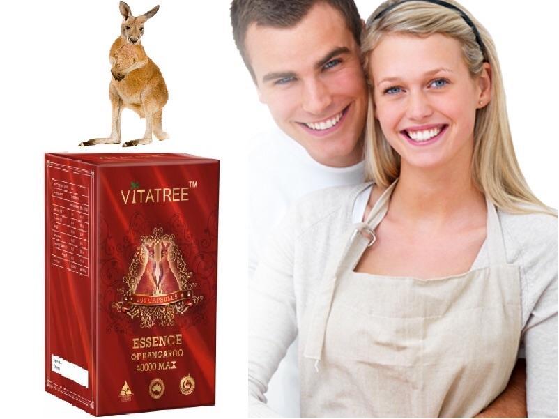 Viên Uống Tăng Cường Sinh Lý Vitatree Essence Of Kangaroo 40000 Max