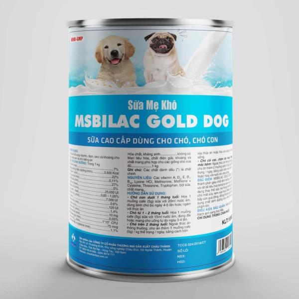 Sữa cao cấp cho chó mèo không tiêu chảy - MsBilac Gold Dog 330g