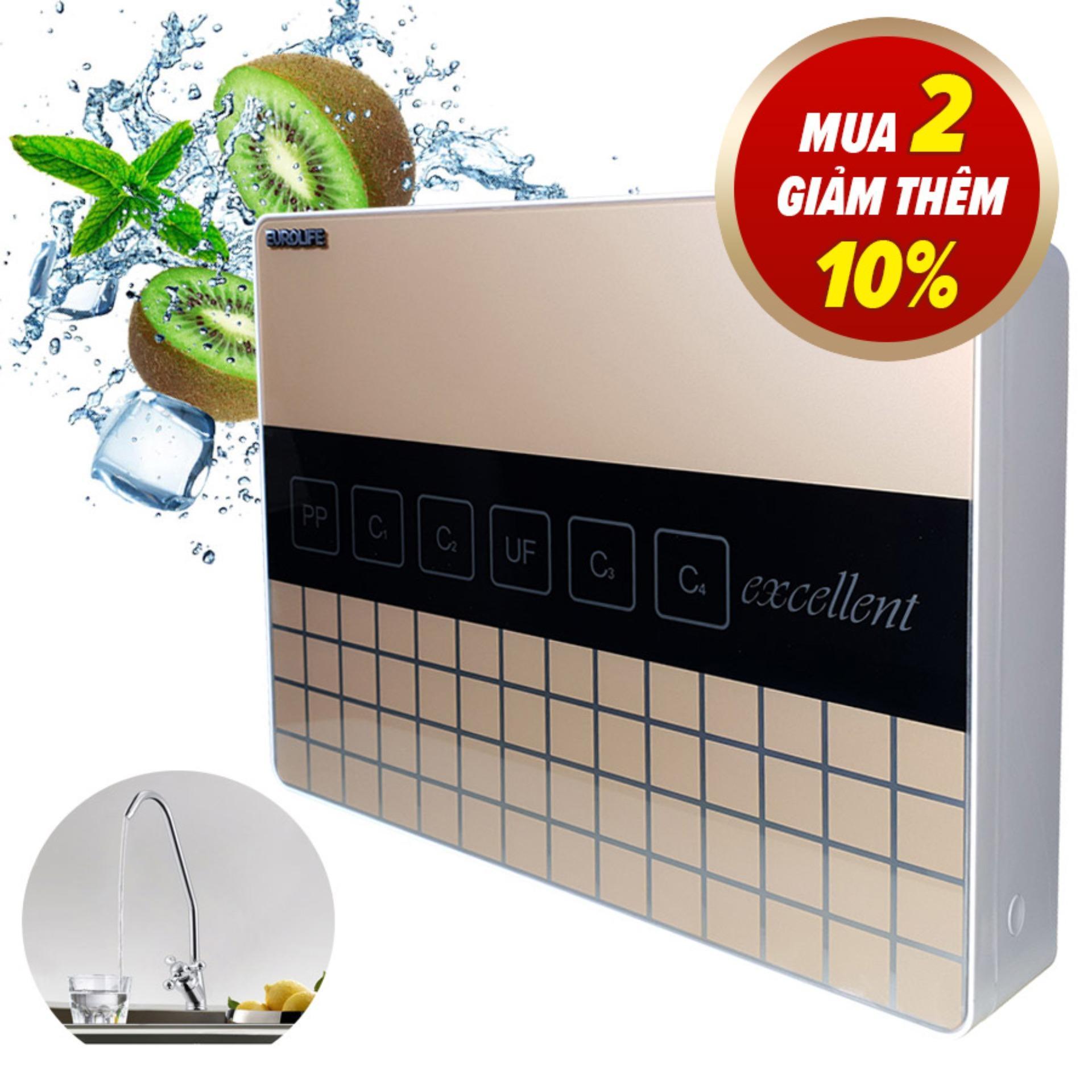 Bảng giá Máy lọc nước uống trực tiếp 7 cấp độ lọc Eurolife EL-UF7 (Gold) Điện máy Pico