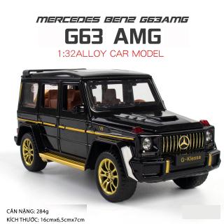 Mô hình xe Mercedes-Benz AMG G63 tỉ lệ 1 32 hãng Chezhi khung kim loại, 3 màu Đen, Đỏ, Trắng thumbnail