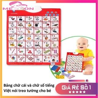 Bảng chữ cái và chữ số tiếng Việt điện tử nói treo tường cho bé thumbnail