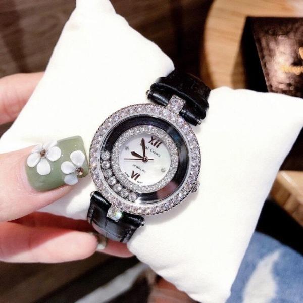 [HCM]Đồng hồ nữ dây da RoyaI Crown 0119 vỏ Trắng (Silver) Size 33mmĐồng hồ nữ cao cấp chống nước - Shop Kiwi bán chạy