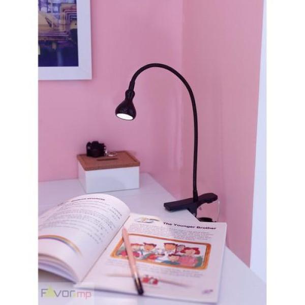 Đèn kẹp đọc sách IKEA JANSJO màu ĐEN