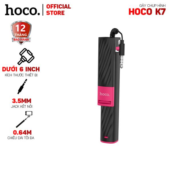 Gậy selfie không bluetooth Hoco K7 jack 3.5mm- dài 0.64m