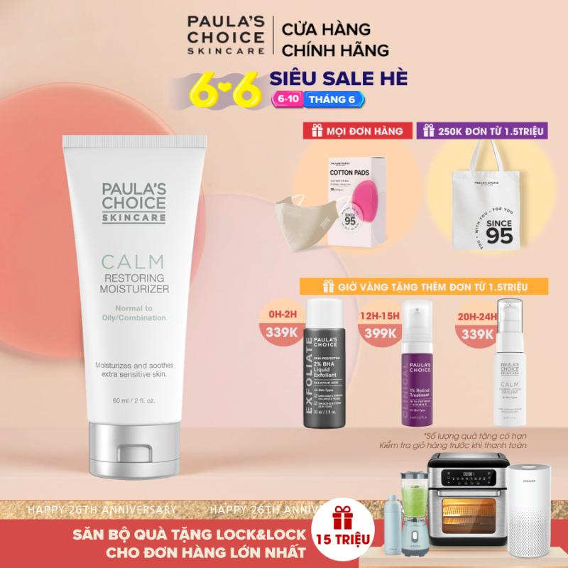 Kem dưỡng ẩm chống lão hóa, phục hồi da dầu, nhạy cảm Paula's Choice Calm Restoring Moisturizer Oily skin 9180 giá rẻ