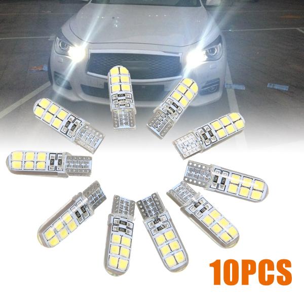 Stiup 10 chiếc T10 2835 LED Xi Nhan CANBUS Siêu Sáng Ô Tô Rộng Ánh Sáng Bóng Đèn Trắng