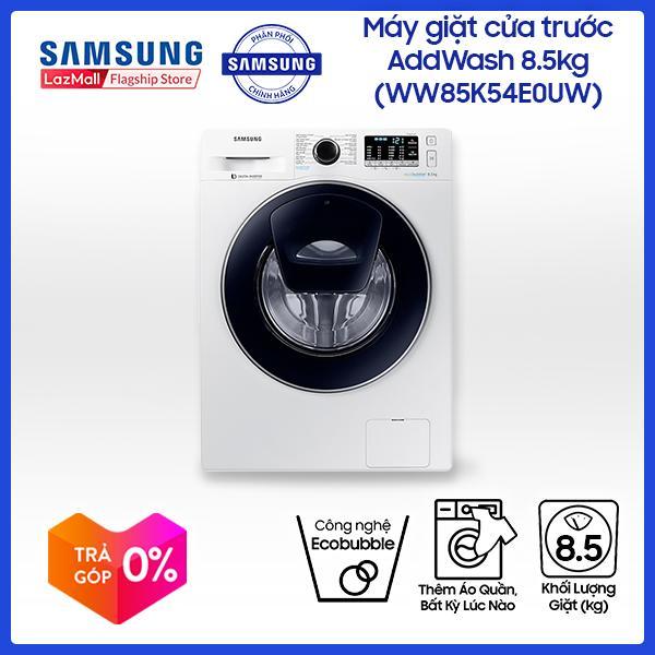 Máy giặt cửa trước AddWash Inverter Samsung WW85K54E0UW/SV 8.5kg (Trắng) - Hãng phân phối chính thức, tiết kiệm điện