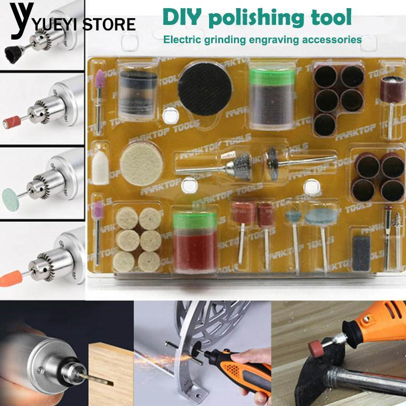 105pcs 105pcs Electric Suit Tool Kits Grinding Tool Set DIY Grinding Wheel Sandpaper Bar Circle Wool Polishing Wheel