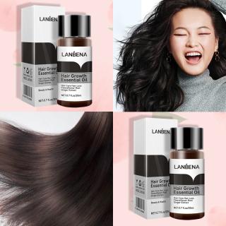 [Peachy Sis Shop] Tinh Chất Kích Thích Mọc Tóc Dưỡng Tóc Chuyên Sâu Mọc Nhanh Giảm Gãy Rụng Lanbena Hair Growth Oil 20Ml thumbnail