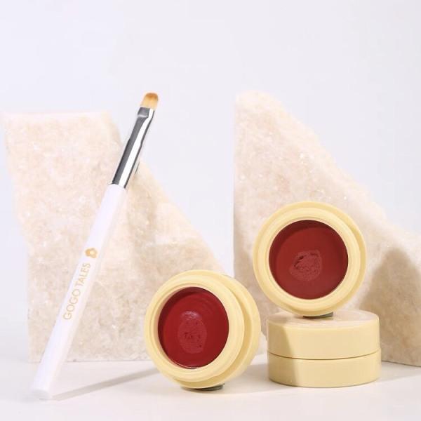 Son kem dạng hũ kèm cọ GOGO TALES dễ tán bền màu Dense And Soft Lip Cream GT263 GOGO79