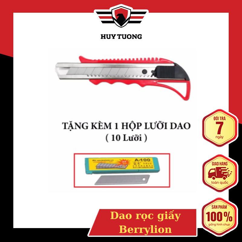 Dao rọc giấy Berrylion cao cấp ( Tặng kèm 1 hộp lưỡi dao ) - Huy Tưởng