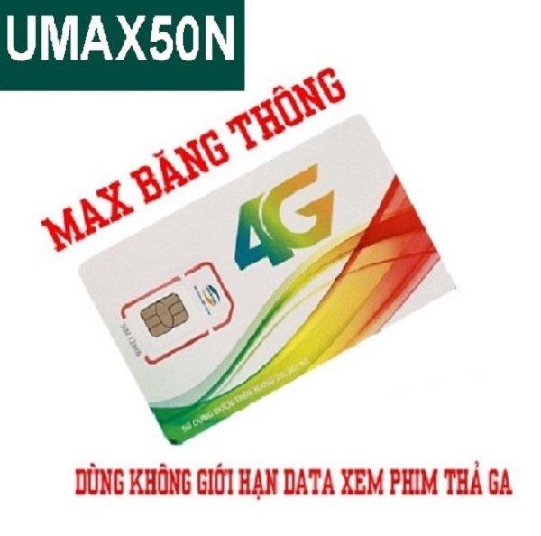 SIM Viettel 4G Umax50N Không Giới Hạn Lưu Lượng Tốc Độ Cao | Max Băng Thông