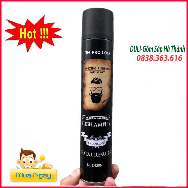 Gôm xịt tóc giữ nếp cứng (10-14h)the pro lock ông già vàng/keo xịt tóc/ gel xịt tóc/sáp vuốt tóc, sản phẩm tốt, chất lượng cao, cam kết như hình, độ bền cao giá rẻ