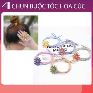 ((Phụ Kiện Tóc)) Combo 3 Chun Buộc Tóc Hoa Cúc Nhiều Màu Sắc thumbnail