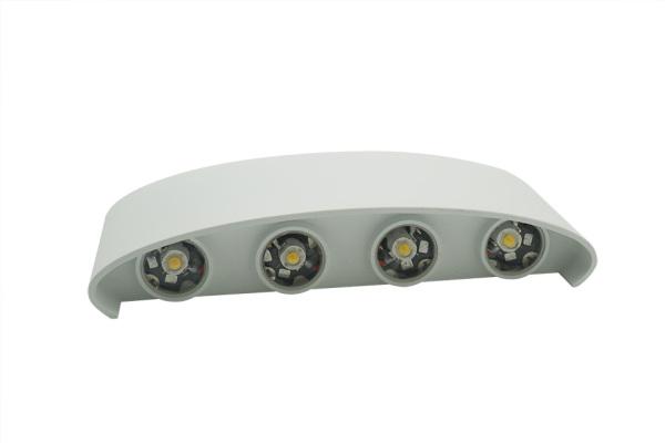 Đèn LED trang trí hắt tường ánh sáng vàng đèn LED vỏ trắng 2 đầu 6W 8W chống nước B053 - Đèn Hắt Tường Trang Trí HC LIGHTING