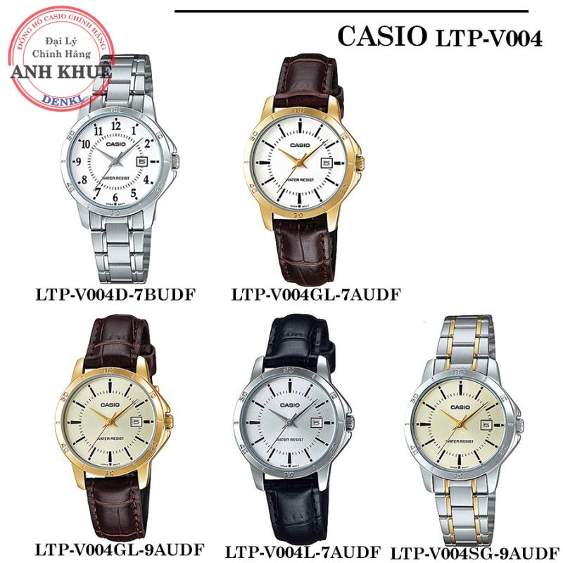 Đồng hồ nữ Casio LTP-V004  𝐅𝐑𝐄𝐄𝐒𝐇𝐈𝐏  LTP-V004GL LTP-V004G LTP-V004L LTP-V004D chính hãng Anh Khuê full Series