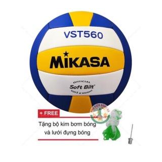 Quả bóng chuyền Mikasa VST560 Tiêu chuẩn thi đấu ( Tặng kim bơm và lưới đựng bóng ) thumbnail