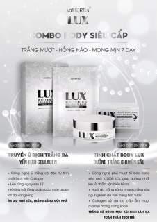 [hàng chính hãng Date 2023]-COMBO LUX 2 SP SIÊU TRẮNG-1 hộp 3 gói Ủ trắng da Lux Và Kem dưỡng trắng body tinh chất yên tươi Lux soHERs thumbnail