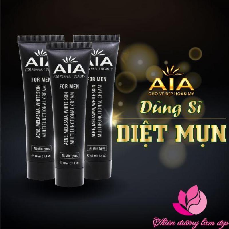 Mỹ phẩm AIA - Kem mụn thâm, Mờ sẹo, Ngăn nhờn, Trắng da, Se khít lỗ chân lông dành cho NAM (40ml)