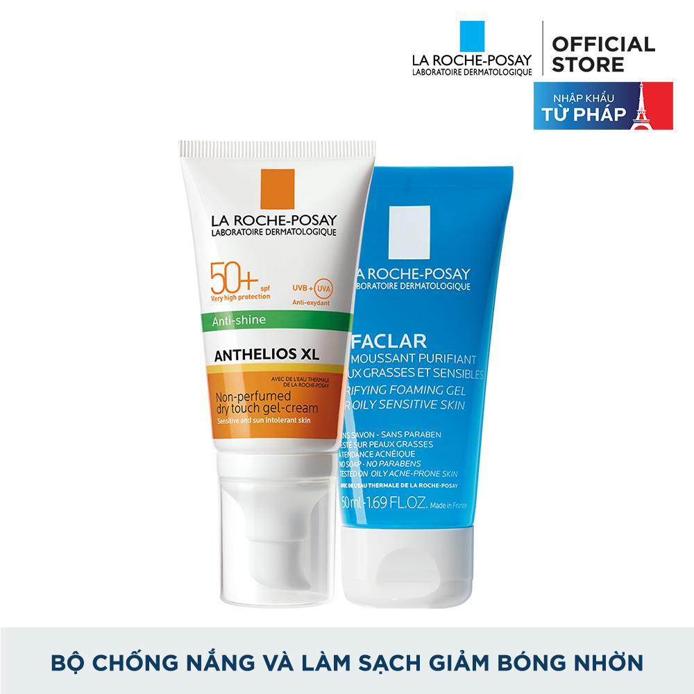 Offer Giảm Giá Bộ Kem Chống Nắng Và Làm Sạch Cho Da Dầu La Roche-Posay Anthelios Dry Touch 50ml
