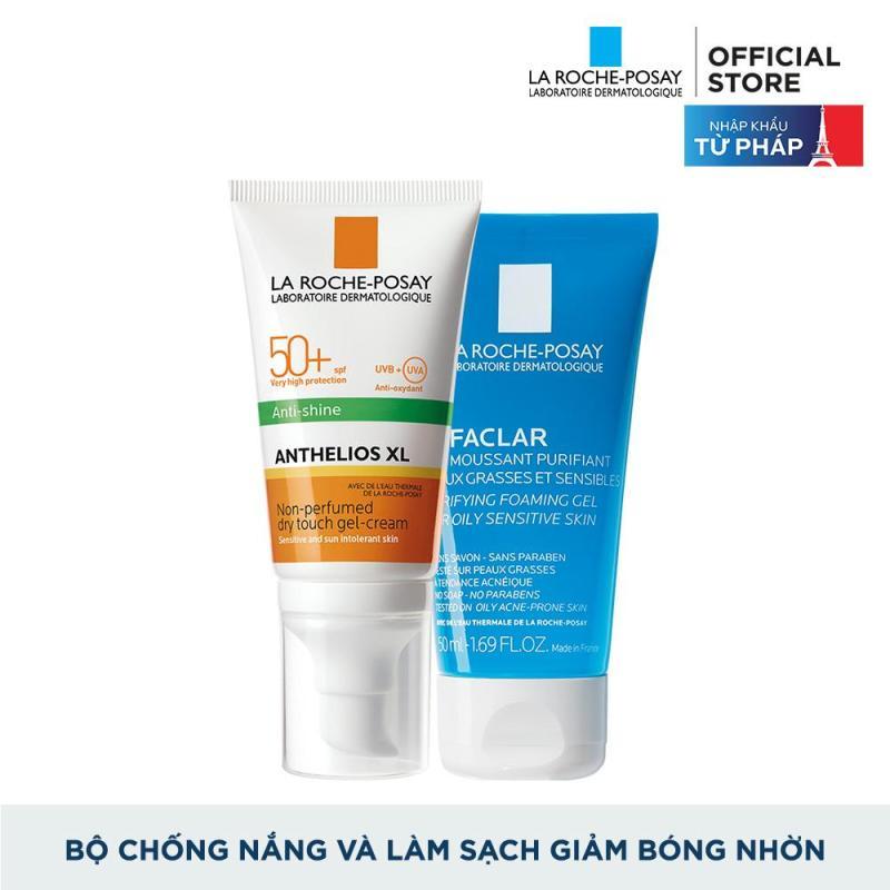 Bộ kem chống nắng và làm sạch cho da dầu La Roche-Posay Anthelios Dry Touch 50ml giá rẻ
