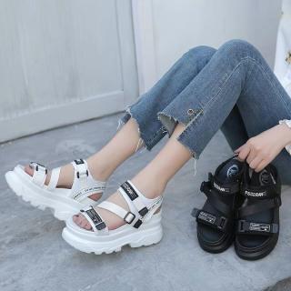 (Video 2 màu) Sandal nữ,sandal học sinh độn đế 5p fashion kiểu dáng mới siêu đẹp 7