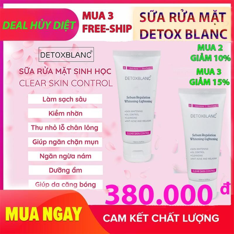 Sữa rửa mặt  Detox BlanC – Làm sạch da sinh học, sủi bọt, thải độc tố đa năng Clear Skin Control giá rẻ