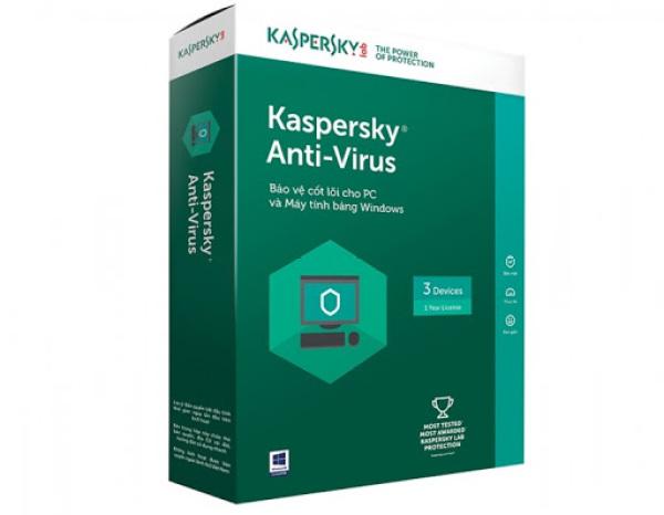 Bảng giá Phần mềm Kaspersky antivirus - 3PC/1Năm Phong Vũ