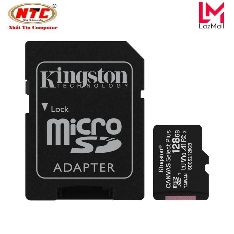 Thẻ nhớ microSDXC Kingston Canvas Select Plus 128GB U1 V10 A1 100MB/s (Đen)