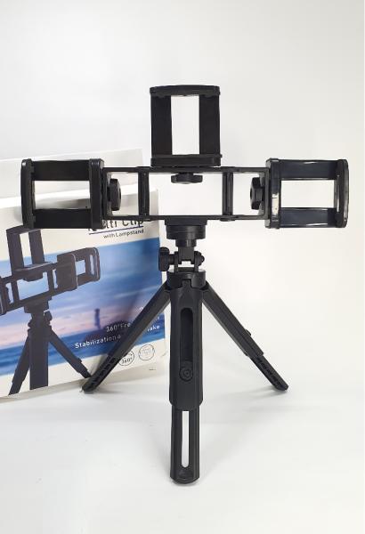 Tripod hỗ trợ chụp ảnh ,3 chân kèm 3 kẹp điện thoại hỗ trợ livestream, tripod mini 3 in 1, gậy chụp hình livestream, gậy chụp hình, giá đỡ điện thoại, kẹp điện thoại