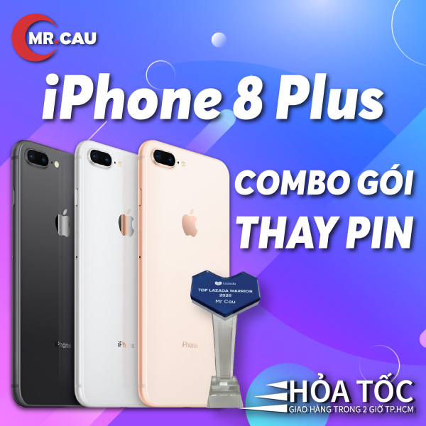 (COMBO PIN MỚI) Điện thoại lPhonee 8 PLUS (64GB/256GB) QUỐC TẾ (Trả Góp 0 %)  3GB RAM Hexa-core A11 Bionic Card Màn Hình 3 Nhân Màn Hình FULL HD Retina 5.5 inches 2 Camera Sau 12MP Selfie Cam 7MP Cao Cấp M