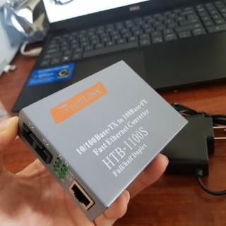 Thiết Bị Chuyển Đổi Quang Điện 2 Sợi Media Converter 2FO 1 Quang 1 LAN 100Mbps Netlink HTB-1100S thumbnail