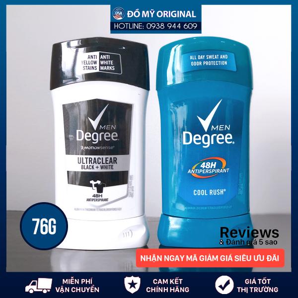 Lăn khử mùi Degree Men Black & White Ultraclear 48 HR Protection Hương Nam Tính Mạnh Mẽ Quyến Rũ Khử Mùi Thấm Hút Mồ Hôi Hiệu Quả Hàng Nhập Mỹ cao cấp