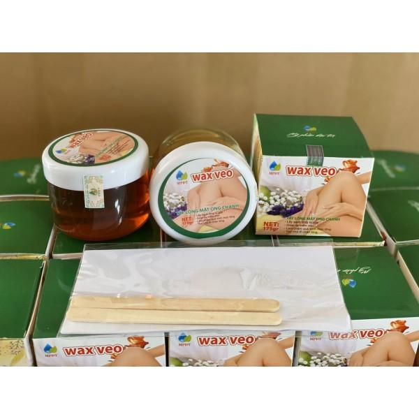 WAX LÔNG VEO Tẩy sạch MỌI VÙNG Lông + TẶNG kèm giấy wax và que gạt ( Kem tẩy lông, Triệt lông Vĩnh viễn)