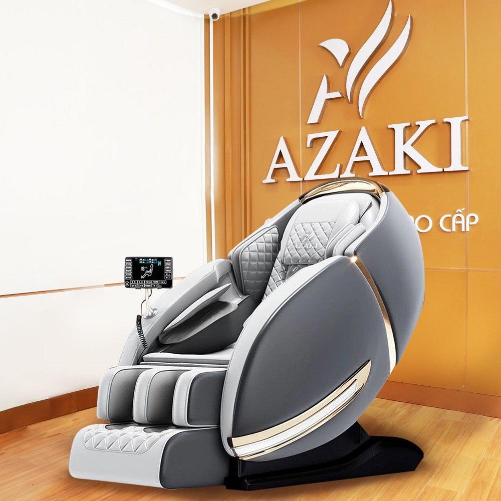 Ghế massage Azaki CS25 Plus phiên bản 2021 Full chức năng, massage không trọng lực Zero Gravity, kéo dãn toàn thân, kiểu dáng phi thuyền hiện đại