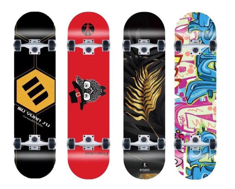 Giá bán Ván trượt skateboard đạt chuẩn thi đấu ( Mặt nhám + Bánh có đèn Led )