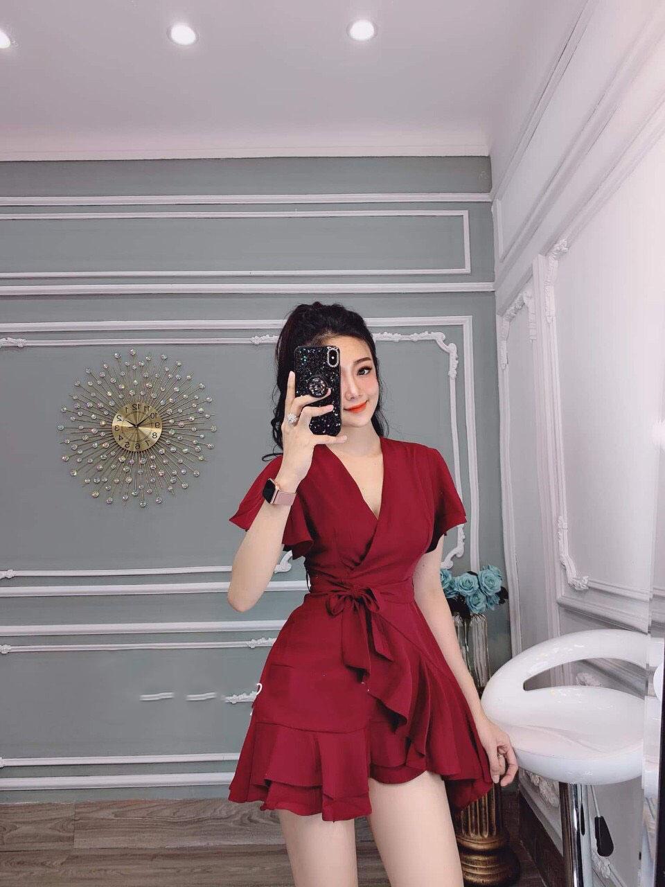 Đầm bèo 2 tầng thời trang nữ (Có big size)