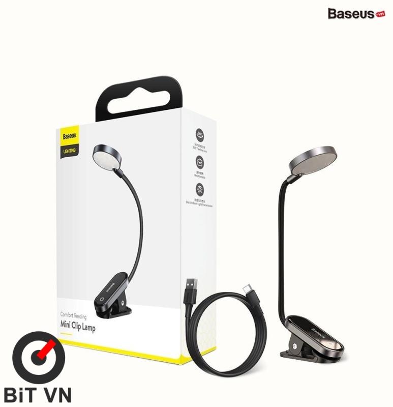 Bảng giá Đèn Đọc sách mini Pin sạc Baseus Comfort Reading Mini Clip Lamp ( Dịu mắt, Chân kẹp, 3 Mức sáng, 350mAh, 24h sử dụng) - BiT VN Phong Vũ