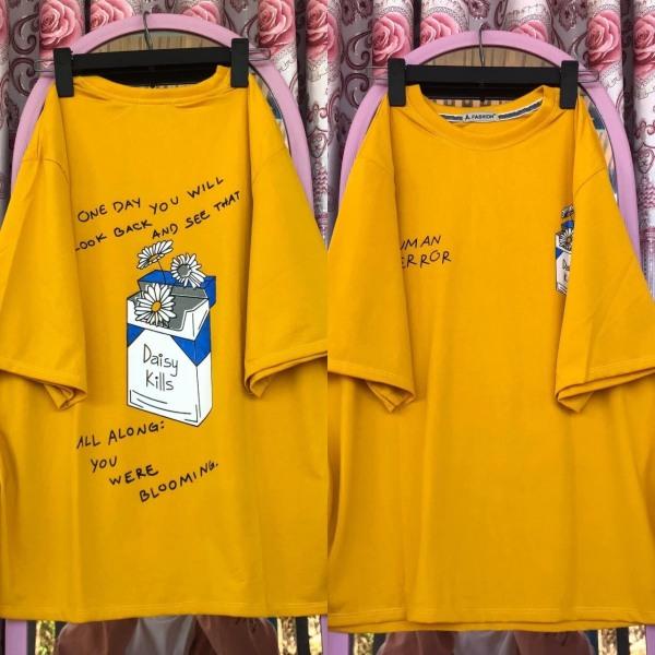 Áo thun nữ form rộng tay lỡ Unisex DAISY KILLS Freesize 45 - 70kg áo thun nam form rộng tay lỡ, áo phông nữ form rộng