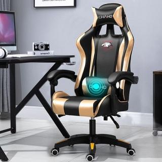 Ghế gaming cao cấp, ghế chơi game nhập khẩu, nâng hạ, ngã lưng, xoay 360 kèm massage êm ái thumbnail