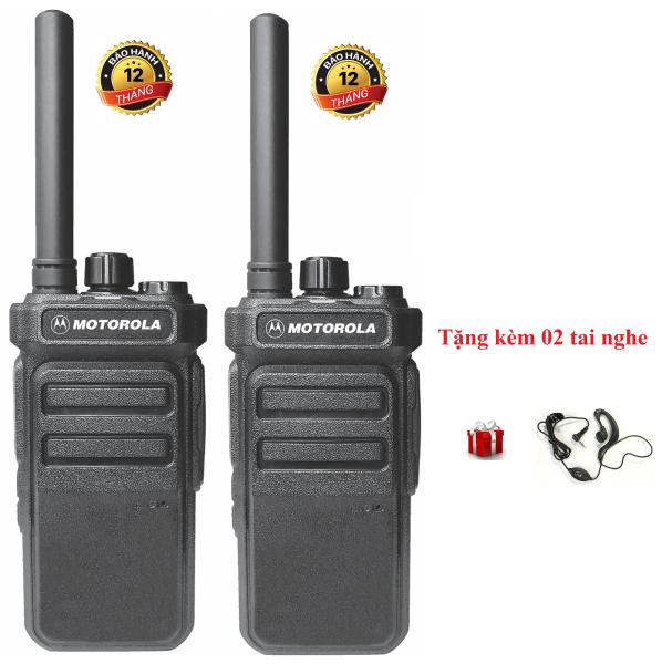 Bộ 2 Bộ đàm Motorola CP988 (Nhỏ gọn âm thanh trong, 2 chế độ sạc, Pin dung lượng cao sử dụng lớn hơn18 tiếng, siêu bền, cự ly liên lạc xa)