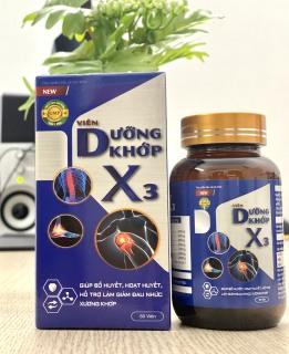 [60 viên] Viên Dưỡng Khớp X3 - Hỗ trợ cải thiện các chứng đau nhức xương do thoái hoá khớp, viêm khớp, thoát vị đĩa đệm thumbnail