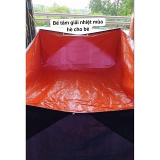 bể bạt nuôi cá, lươn, ếch, ... làm bể tắm cho trẻ con. kích thước 2x3x1m và 2x4x1m ( sale xả hàng ) thumbnail