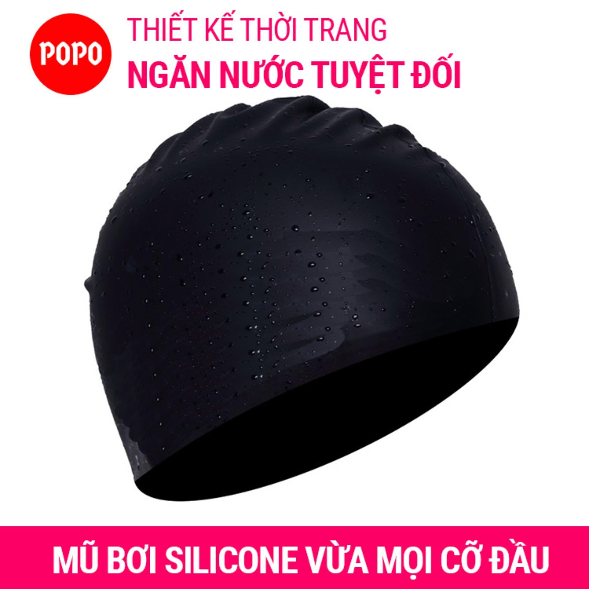 Nón bơi mũ bơi trơn silicone chống thống nước cao cấp CA31 POPO Collection 20