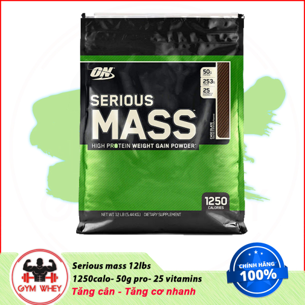 [Lấy mã giảm thêm 30%]Sữa Dinh Dưỡng Tăng Cân Cho Người Gầy Serious Mass 12lbs của On(5.6 kg)