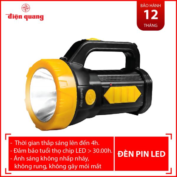 Đèn Pin LED Điện Quang ĐQ PFL09 R BLY (Pin sạc, Đen - Vàng)